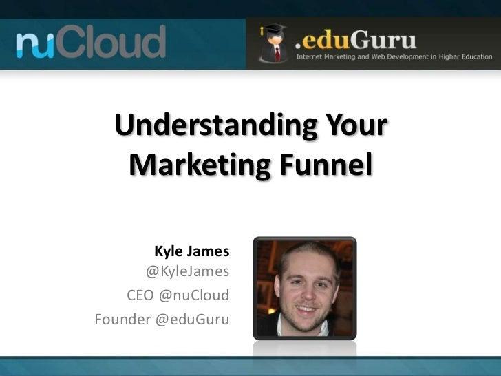Understanding Your   Marketing Funnel        Kyle James      @KyleJames    CEO @nuCloudFounder @eduGuru