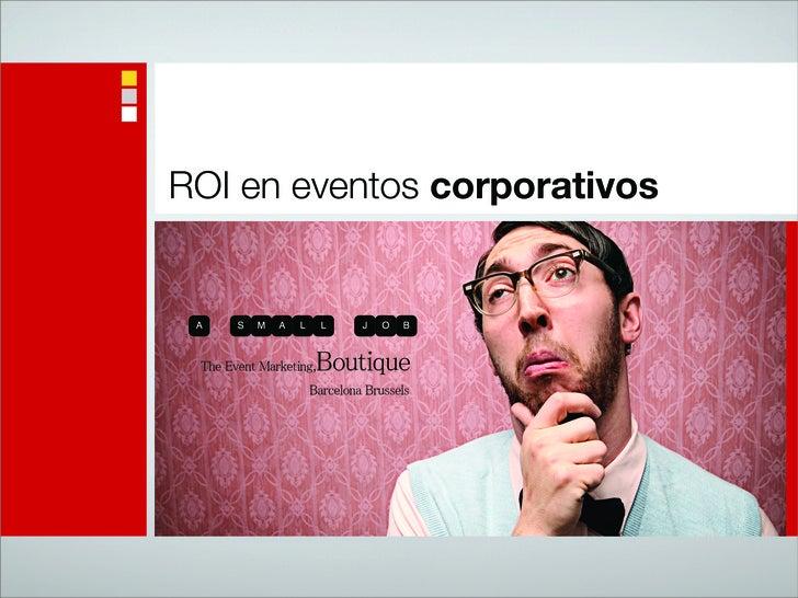 ROI en eventos corporativos