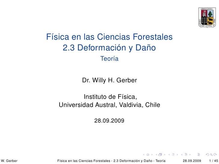 UACH Fisica De Las Ciencias Forestales 2 3 Fuerzas Deformacion Y Dano