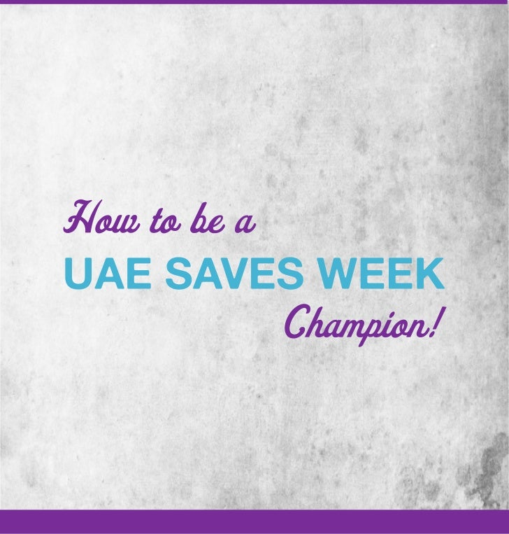 UAE Saves Week Champion