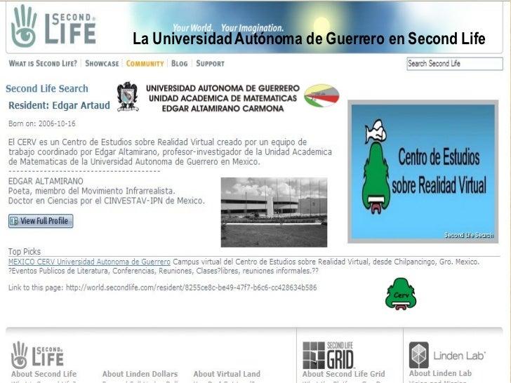 La Universidad Autonoma de Guerrero en Second Life