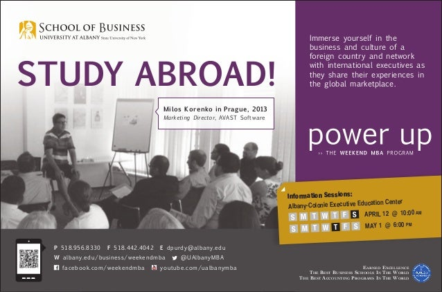 Study Abroad! Earned Excellence The Best Business Schools In The World The Best Accounting Programs In The World P 518.956...