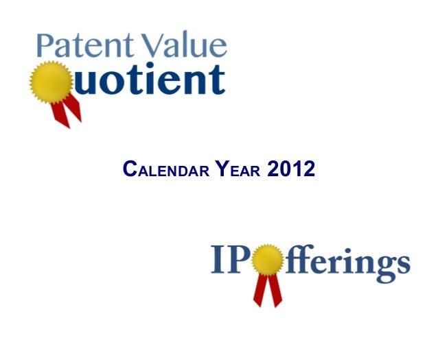 US Patent value   2012