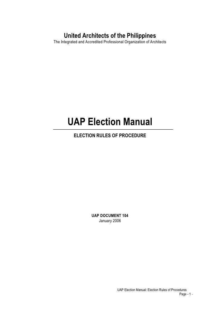Uap election manual
