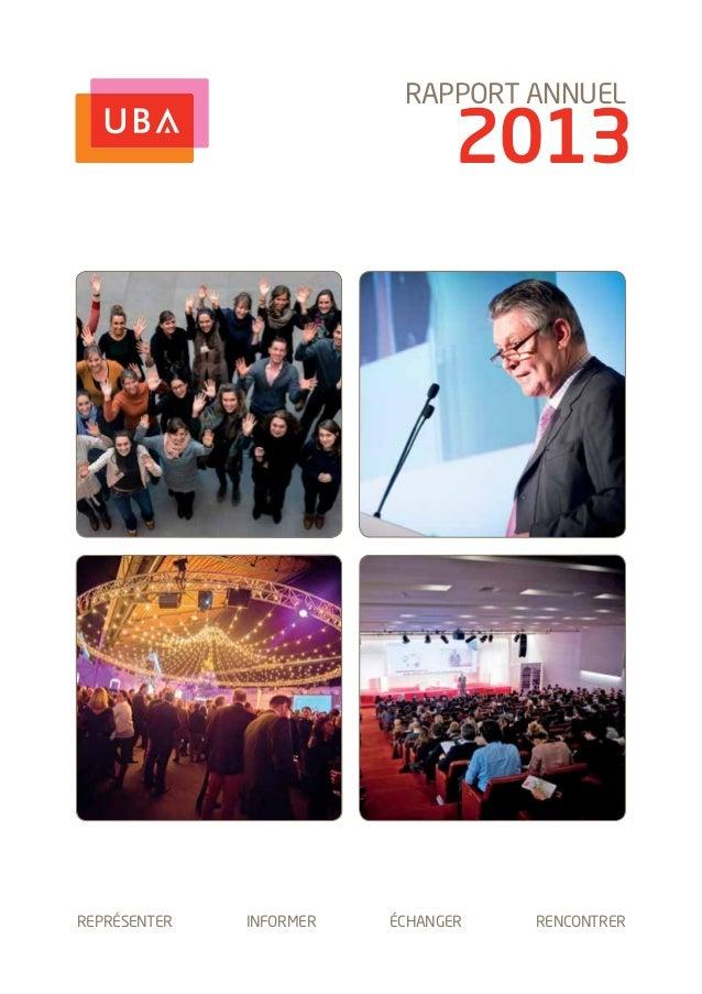 Rapport annuel Union Belge des Annonceurs - année 2013