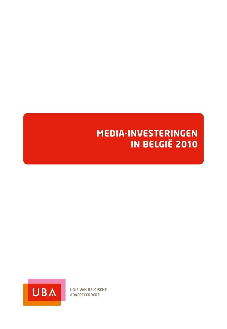 Media-investeringen       in België 2010