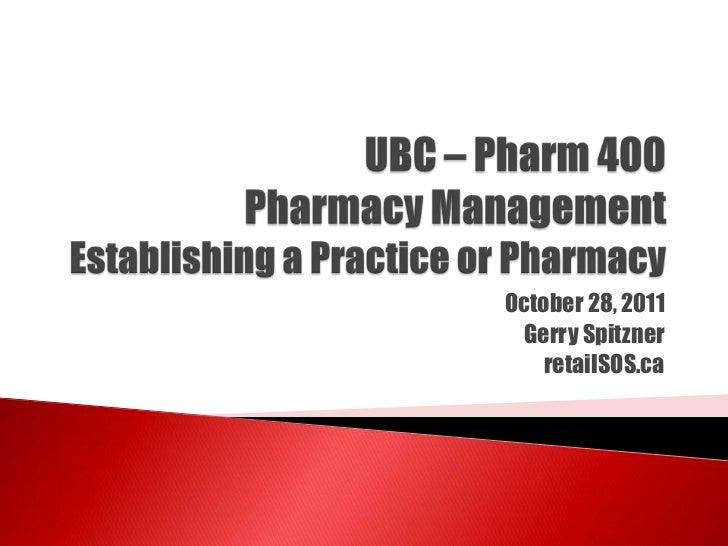UBC Phar400-startup or buy pharmacy-28oct2011