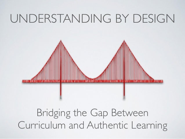 UNDERSTANDING BY DESIGN Bridging the Gap Between 	  Curriculum and Authentic Learning