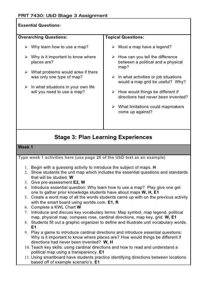 sample ubd for science Classroom unit plan lessons of ubd, instructional theory ubd, understanding by design at internet 4 classrooms, internet resources for teachers and students, children and parents.