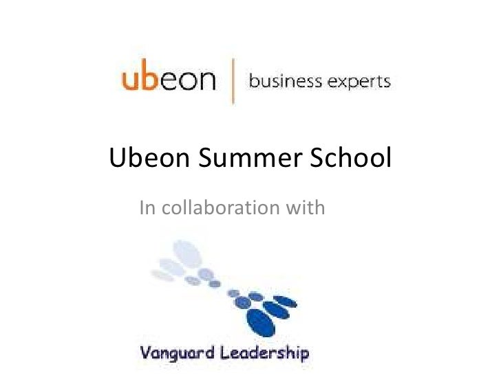 Ubeon Summer School<br />In collaboration with<br />