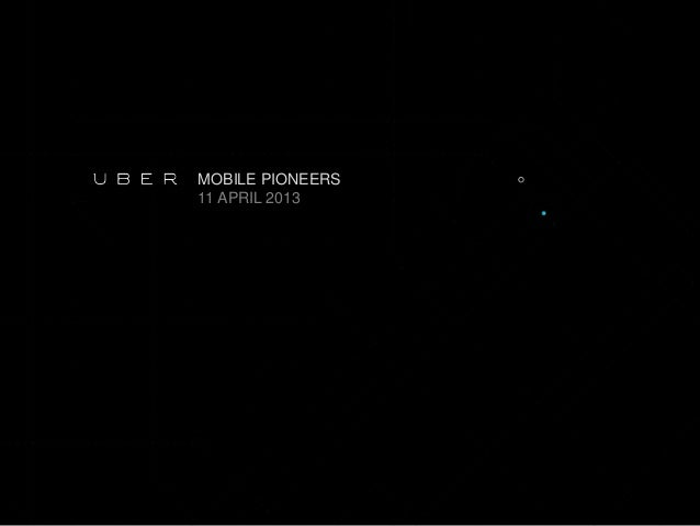 Uber - Casper Oppenhuis de Jong - Revolutie in vervoer - Mobile Pioneers
