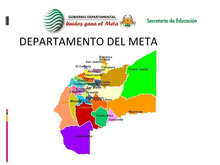 DEPARTAMENTO DEL META CARACTERIZACIÓN DEL SERVICIO EDUCATIVO DEL DEPARTAMENTO DEL META San Juanito El Calvario Restrepo Cu...