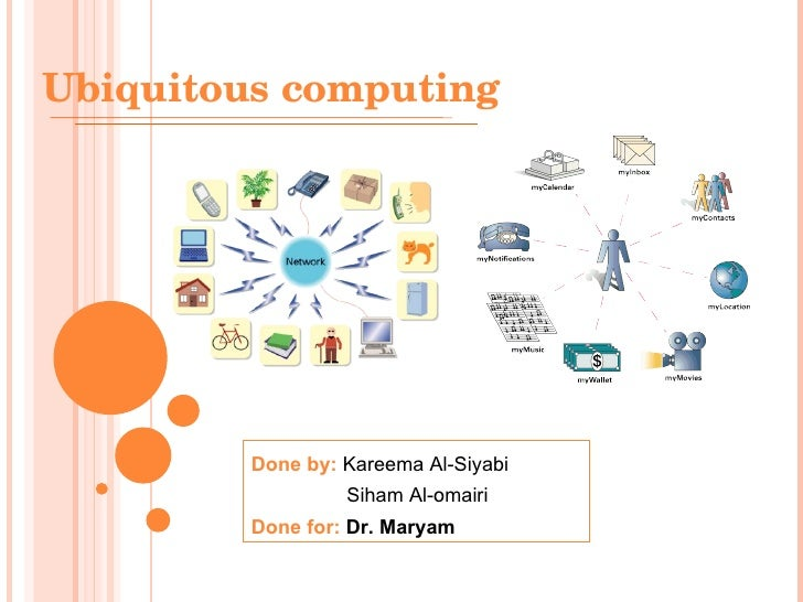 Ubiquitous Computing Architecture Ubiquitous Computing Done by