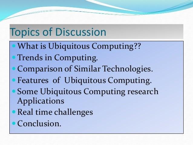 Ubiquitous Computing Applications Some Ubiquitous Computing