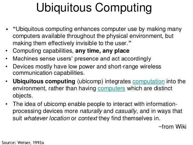 Ubiquitous Computing Disadvantages Ubiquitous Computing