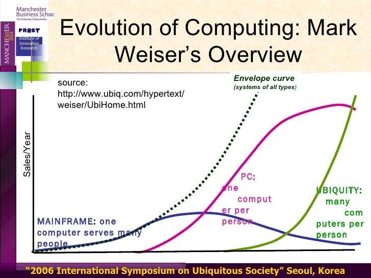 Ubiquitous Computing Weiser Computing Mark Weiser's