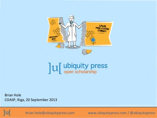 Ubiquity Press: open scholarship
