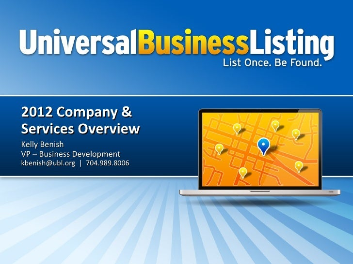 Ubl Company And Services Overview 2012