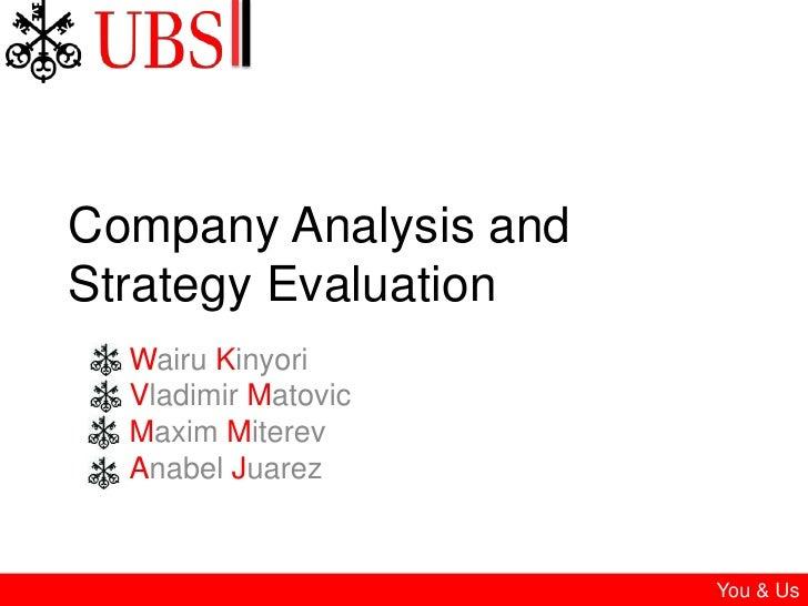 Company Analysis and Strategy Evaluation<br />WairuKinyori<br />Vladimir Matovic<br />Maxim Miterev<br />AnabelJuarez<br ...