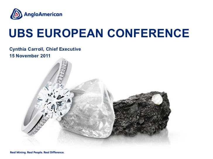 Anglo American: UBS European Conference