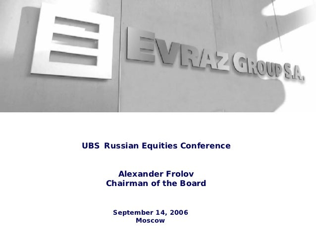 Ubs russian equities conference