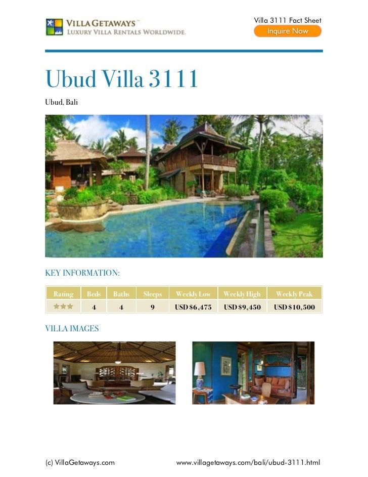 Ubud villa 3111,bali