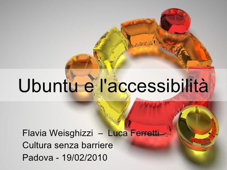 Ubuntu e l'accessibilita - Versione con immagini