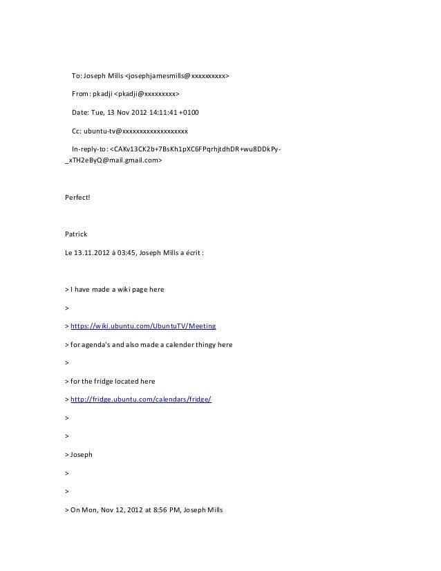 Ubuntu tv team(public) mailing list nov 2012