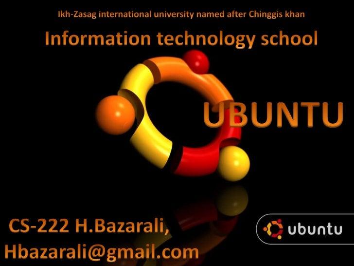 Ubuntu{Bazarali}