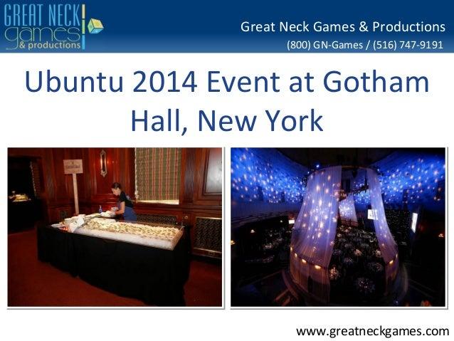 Ubuntu 2014 Event at Gotham Hall, New York