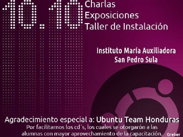 Ubuntu & SF / Taller de Instalación