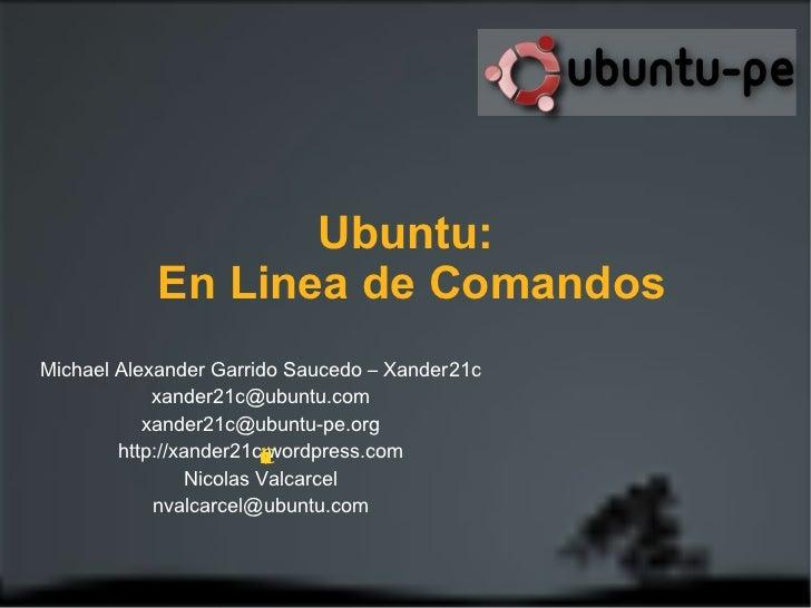 Michael Alexander Garrido Saucedo – Xander21c [email_address] [email_address] http://xander21c.wordpress.com Correcciones ...