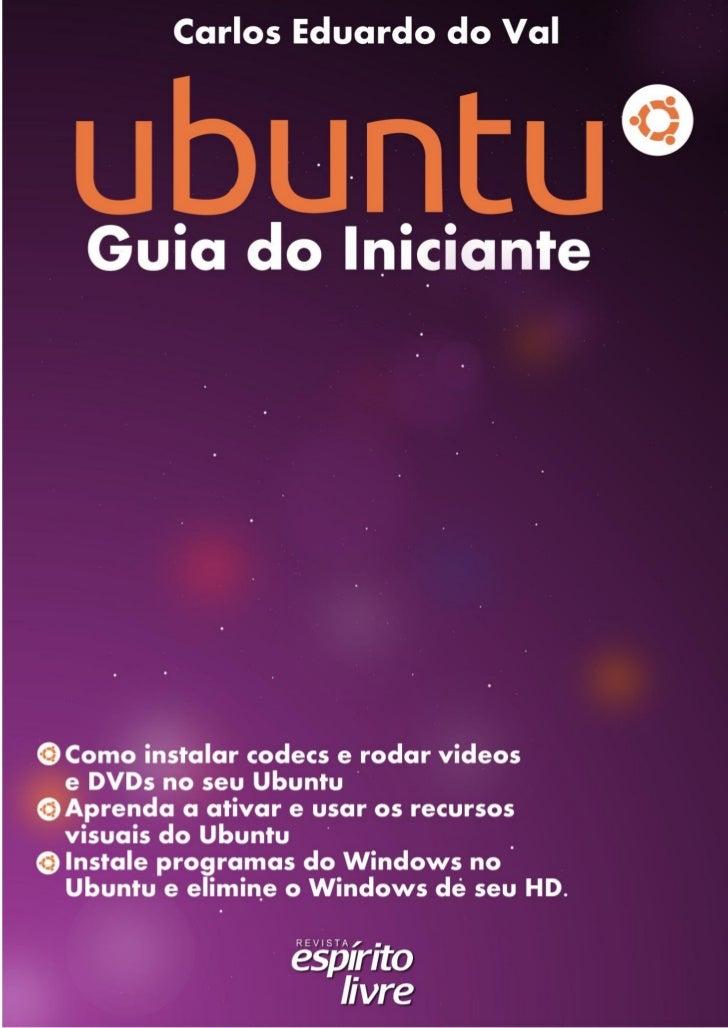 Ubuntu ( linux ) guia do iniciante