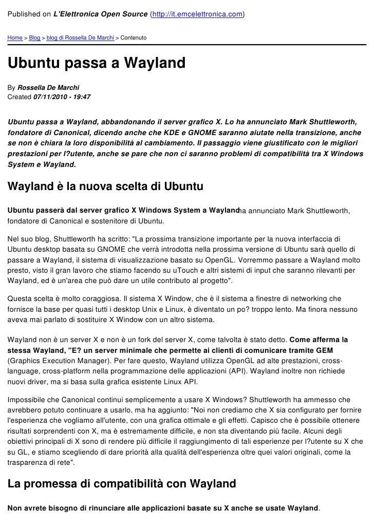 Ubuntu passa a wayland   2010-11-08