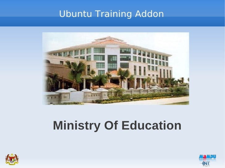 Ubuntu Training AddonMinistry Of Education
