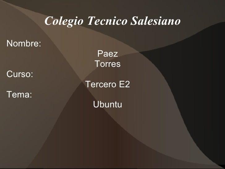 Ventjas y desvaentjas de ubuntu torres_paez