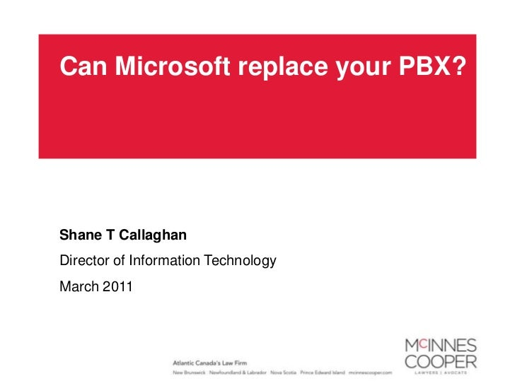 Can Microsoft Replace your PBX?