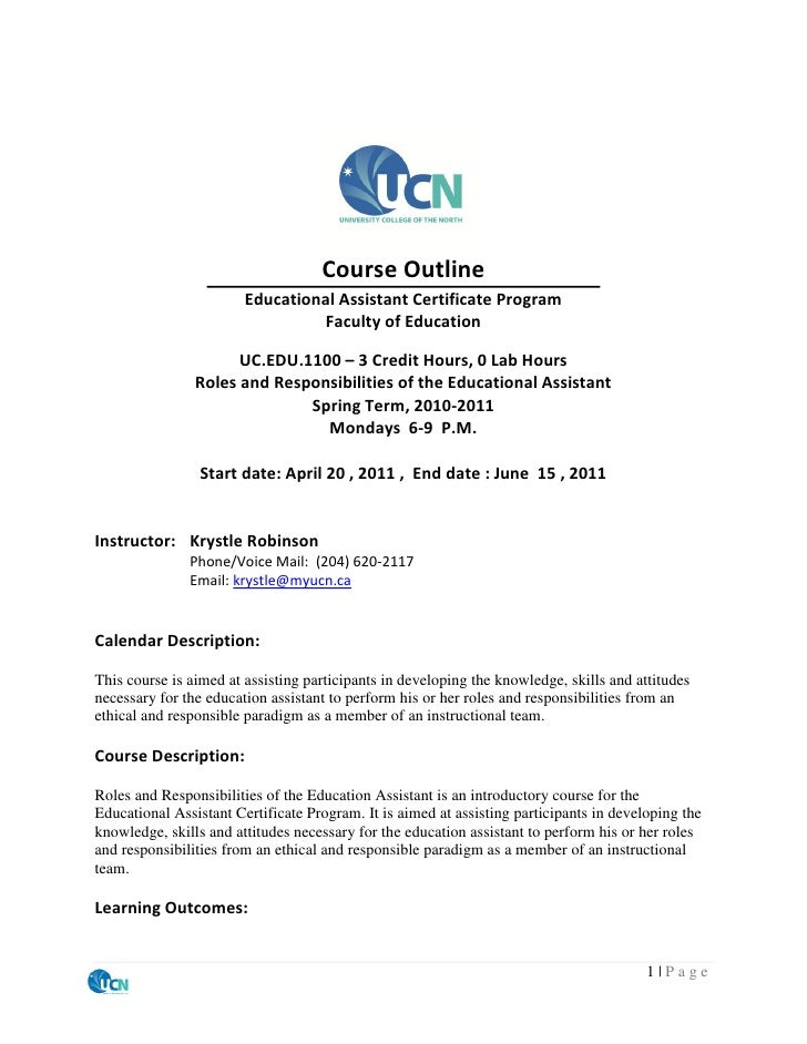 Uc.edu.1100 course outline