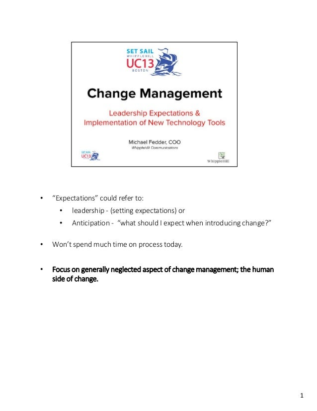 Change Management: Leadership Expectations & Implementation of New Tech Tools