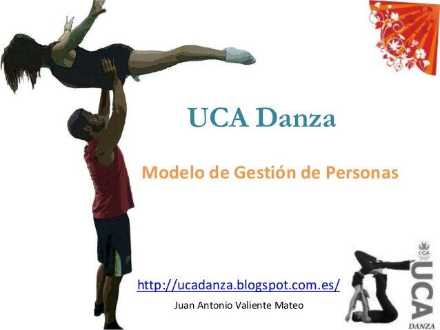 UCA Danza Modelo de Gestión de Personas Juan Antonio Valiente Mateo http://ucadanza.blogspot.com.es/