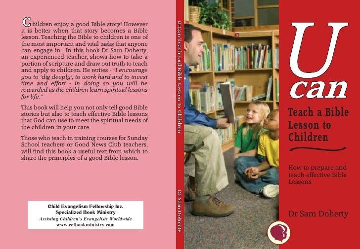 U  CC ishildren when a good Bible story! However                                                     U-Can Teach and Bible...