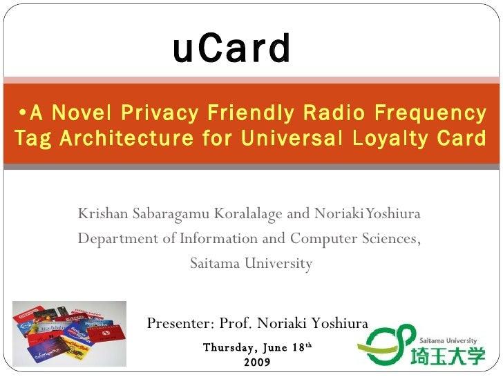 U Card U Card - Digibiz'09
