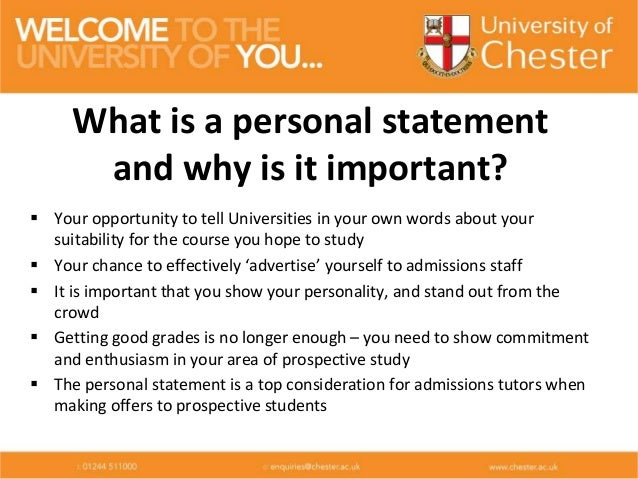Words to use in a personal statement