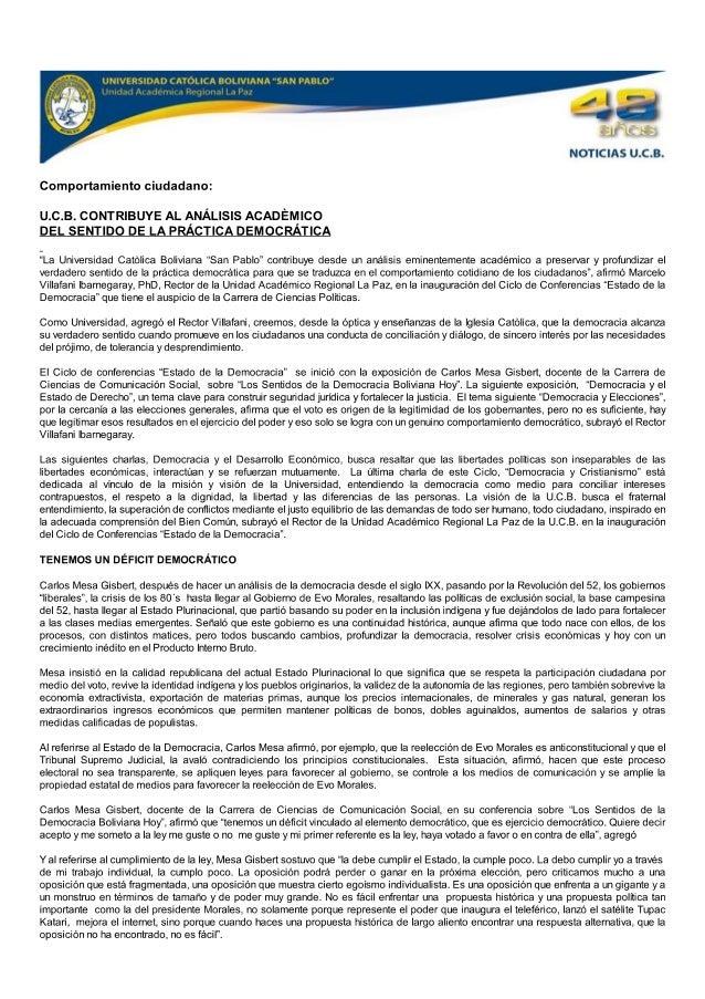 Ucb contribuye-analisis-academiso-sentido-practica