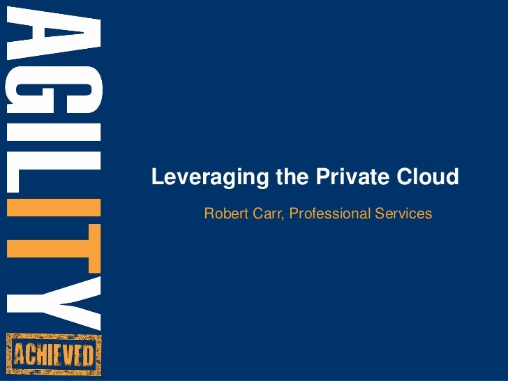 Managing Your Private Cloud with RightScale