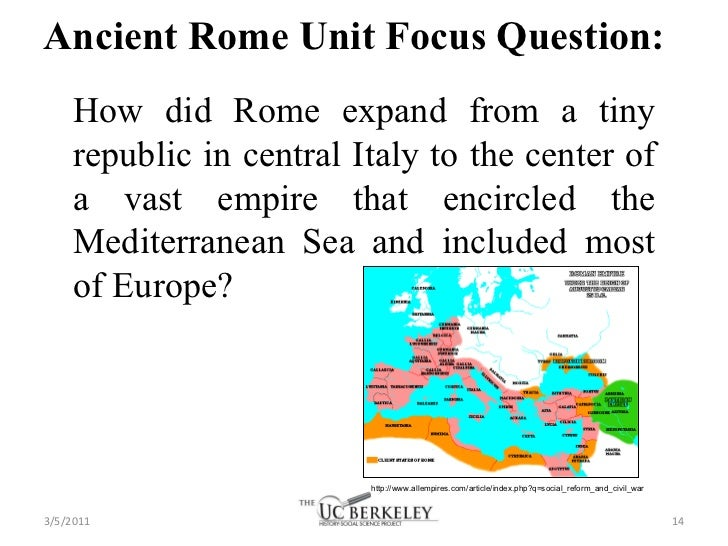 Ancient rome statement thesis
