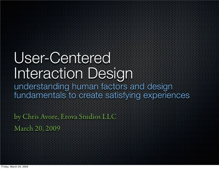 User-Centered Interaction Design