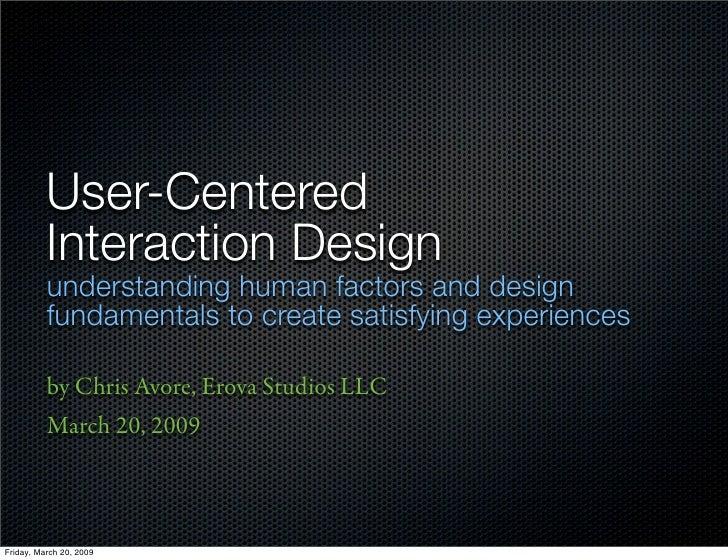 User-Centered Interaction Design