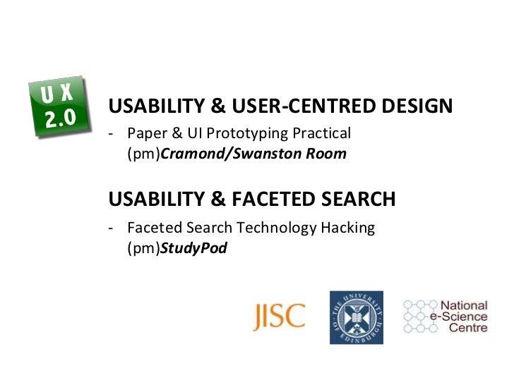Usability & User-Centred Design