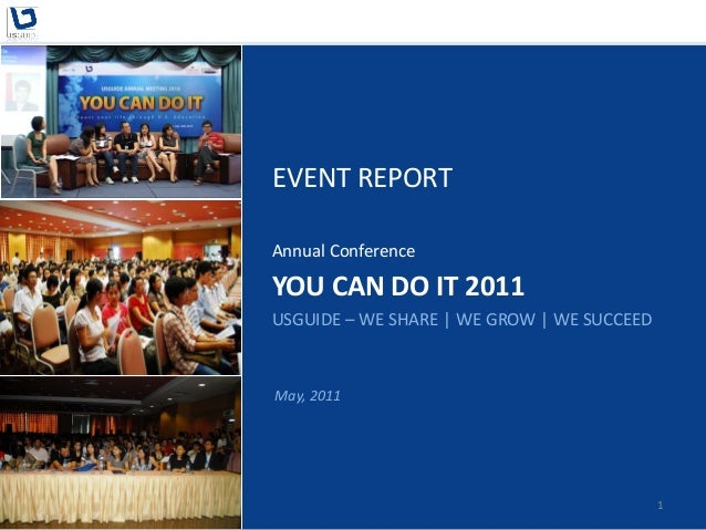 You Can Do It 2011 - Post Event Report